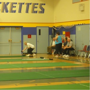 Passmore seniors carpet bowling